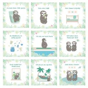 30+1 Meilensteinkarten für die Schwangerschaft (inkl. Baby Countdown) - Chill n Feel