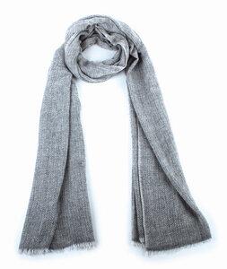 Schal, handgewebt aus 100% Wolle Farbe: grau - El Puente