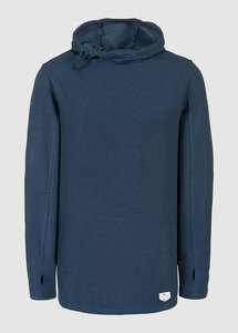 Sherpa Lightweight Hoody Washed Blue - bleed