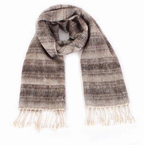 Schal, handgesponnen und -gewebt aus 50% Yak-Wolle und 50% Baumwolle - El Puente