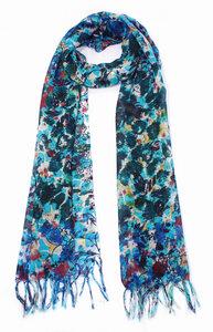Schal, handgewebt und -bedruckt aus 100% Wolle, in verschiedenen Farben - El Puente