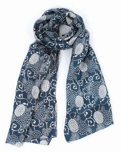Schal, handgewebt und -bedruckt aus 100% Seide, in verschiedenen Farben - El Puente