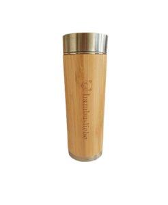 Bambus Thermosflasche mit Teesieb 350ml - bambusliebe