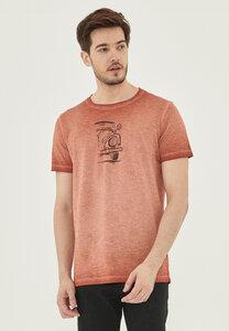 Garment Dyed T-Shirt aus Bio-Baumwolle mit Auto-Print - ORGANICATION