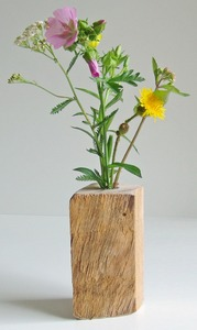 Einzigartige, dekorative Holzvase - Natur-Pur- ''Woody'' - Die Schreiner Christoph Siegel