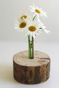 Einzigartige, dekorative Holzvase - Natur-Pur - rund - Die Schreiner Christoph Siegel
