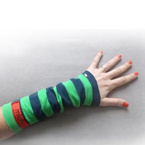 Armstulpen | Bio | Block Stripes - milch Basics