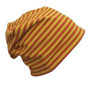 """Mütze """"Line"""" gelb/orange geringelt - bingabonga"""