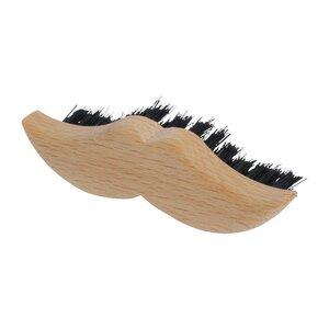 Redecker Bartbürste Bartpflege, Moustache Design im hochwertigen Horn - Redecker - das Bürstenhaus