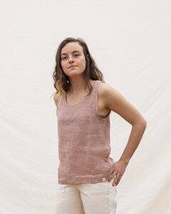 Leinen Top für Frauen / Rosa Tanktop Women - Matona