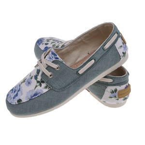 Moccas Green Flower - shoemates