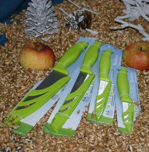 Messerset mit zwei Gemüsemesser, Brotmesser und einem großen Küchenmesser - Biodora
