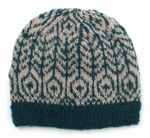 Damen-Mütze aus reiner Schurwolle mit Fleece-Futter, Einheitsgröße, in verschiedenen Farben - El Puente