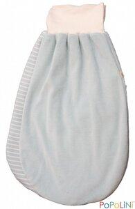 Strampelsack in Nicki hellblau - iobioTM (PoPoLiNi®)