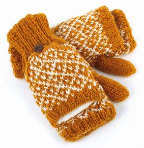 Damen-Vario-Handschuhe aus 70% Wolle und 30% Viskose (Bananenfaser), in verschiedenen Farben, Einheitsgröße - El Puente