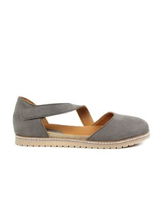 Cross-Over Strap Footbed Sandals Earth - WILLS LONDON