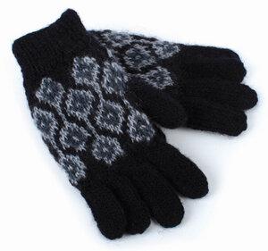 Fingerhandschuhe aus reiner Schurwolle mit Fleece-Futter, Einheitsgröße - El Puente