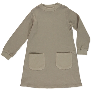 Kleid Orlando Coffee aus Bio-Baumwolle - Honigwabe - Peter Jo Kids