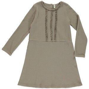 Kleid Dress Madison Coffee aus Bio-Baumwolle - Honigwabe - Peter Jo Kids