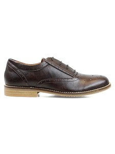 Perforated Oxfords Dark Brown - WILLS LONDON
