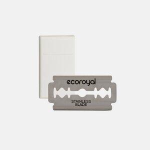 100er Pack Rasierklingen für Rasierhobel und Rasiermesser - Rostfrei - Ecoroyal