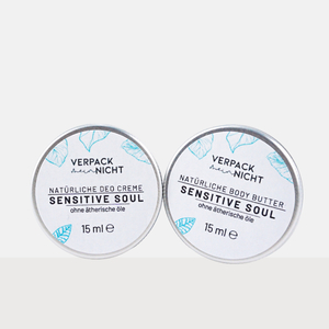 Sensitive Soul Fans - Deo Creme & Body Butter Minis - verpackmeinnicht