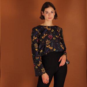 Florale Bluse Lana aus Biobaumwolle kbA - ManduTrap