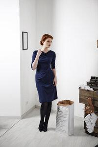 Jerseykleid dunkelblau - Skrabak