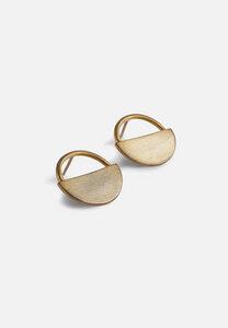 Ohrringe aus 925er Silber, vergoldet, gebürstet - El Puente