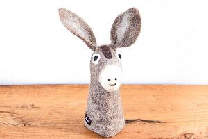 Eierwärmer Esel, Tierfigur aus Filz - feelz
