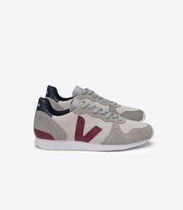 HOLIDAY LOW TOP JUTA NATURAL OXFORD GREY MARSALA - Veja