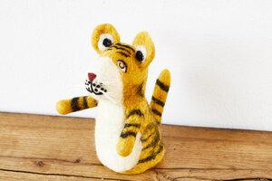 Eierwärmer Tiger, Tierfigur aus Filz - feelz