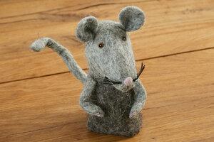 Eierwärmer Ratte (zahm), Tierfigur aus Filz - feelz