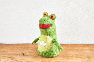Eierwärmer Frosch, Tierfigur aus Filz - feelz