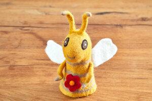 Eierwärmer Biene, Tierfigur aus Filz - feelz