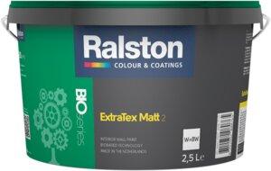 Nachhaltige Wandfarbe Ralston ExtraTex Matt - weiß - Ralston