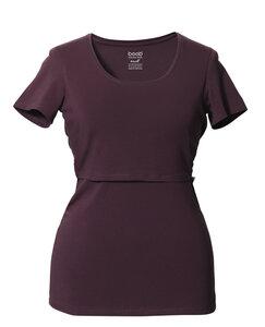 2 in 1 Stilshirt und Umstandsshirt in einem, Rundhals versch. Farben - Boob