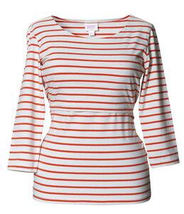 2 in 1 Stillshirt und Umstandsshirt 'Simone' Marine-Look - Boob