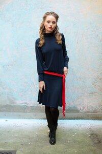 Turtleneck – Dress in Dunkel Blau - ManduTrap