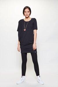 Lässiges Longshirt aus JERSEY schwarz - LUMEN organic