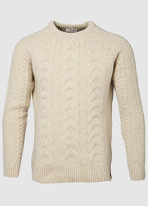Cable Knit Winter White - KnowledgeCotton Apparel