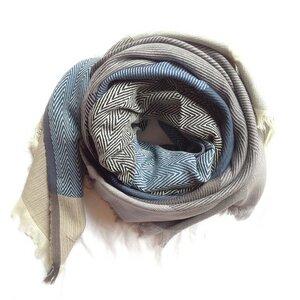 Tuch Tangram blau grau - Karigar