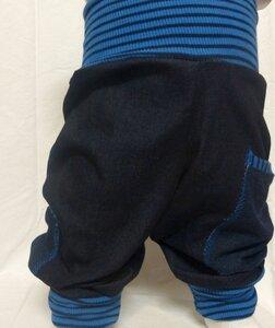Kinder-/Baby-Mitwachshose aus Stretchjeans mit Taschen  - Omilich