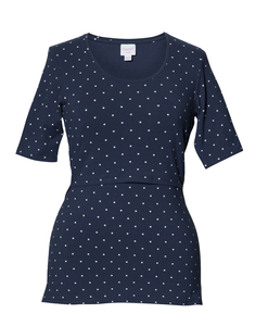 2 in 1 Stil- und Umstandsshirt 'Dot' gelb oder blau gepunktet - Boob