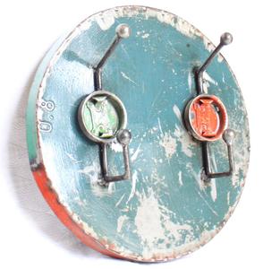 Ölfässer Aufhänger/Garderobe, rund (doppelt) - Africa Design