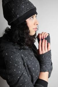 Bio Stulpen 'Lumi' Merinowolle dunkelgrau - Frija Omina