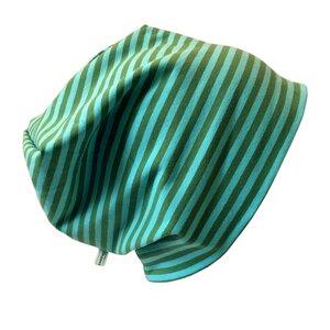 Mütze 'Line' moos/türkis geringelt - bingabonga
