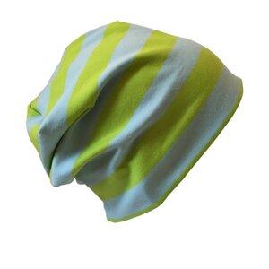 "Mütze ""Line"" Blockstreifen lime - bingabonga"