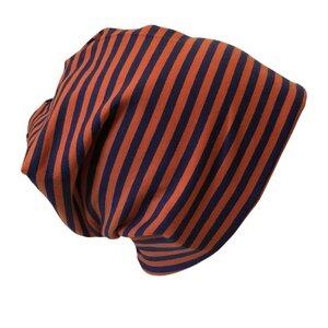 Mütze 'Line' marine/rost geringelt - bingabonga
