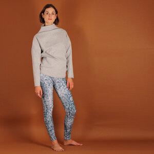 """Leggings Kaanina aus einer Baumwolle mit Schlangen """"animal print"""" in blau weiß - ManduTrap"""